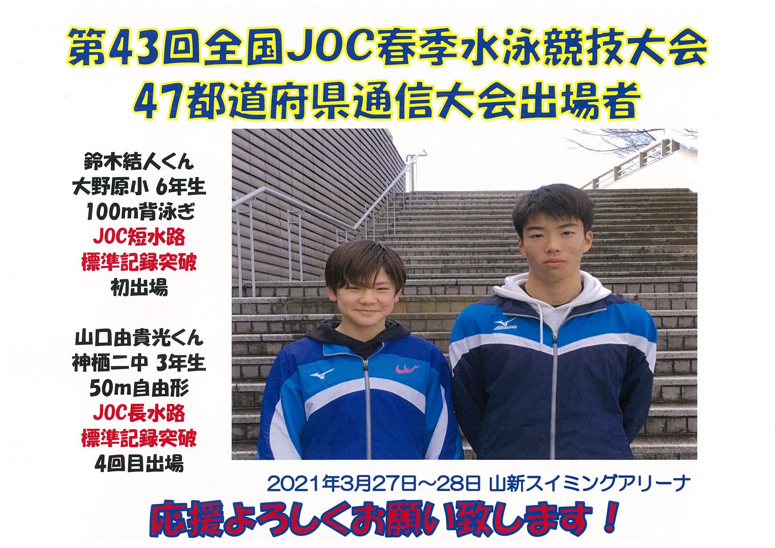 全国JOC春季47都道府県通信大会出場者